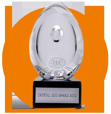 جایزه تخم مرغ کریستال بهعنوان واحد نمونه تولید تخم مرغ در جهان