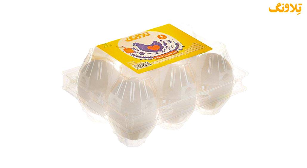 تخم مرغ بسته بندی 6 عددی امگا 3 تلاونگ